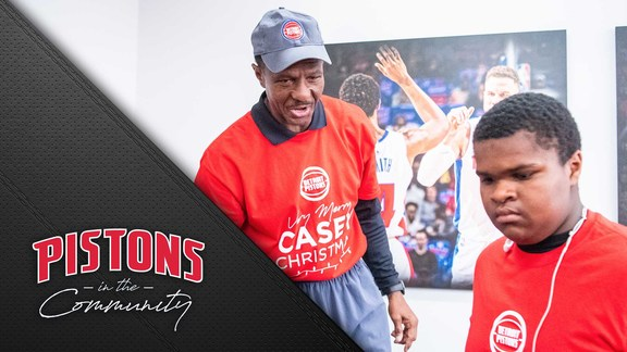 Pistons in the Community: A Very Merry Casey Christmas