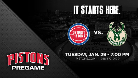Pistons Pregame vs Milwaukee Bucks