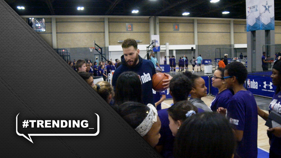 #Trending – Blake Griffin at the NBA All-Star Weekend Jr. NBA Day