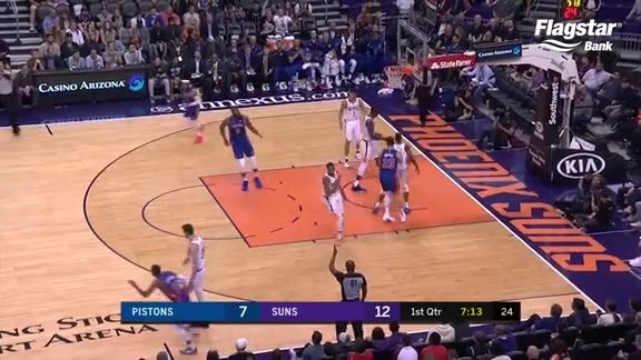 Pistons Playback, crafted by Flagstar: Pistons at Suns