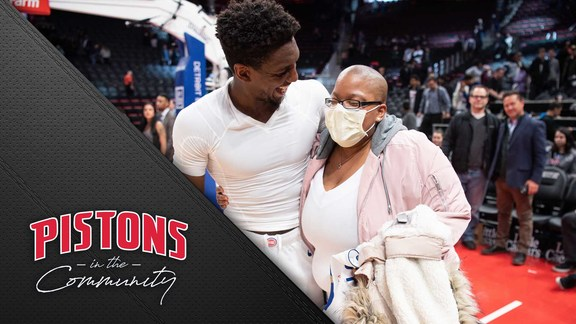 Pistons in the Community: Langston and Destinee