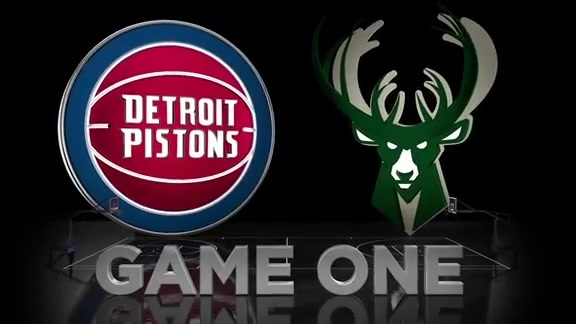 Pistons Hits: Pistons at Bucks, Game 1