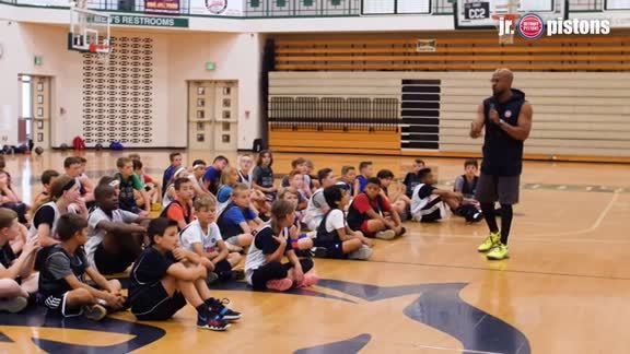 Jr. Pistons: Summer Camp with Bruce Brown