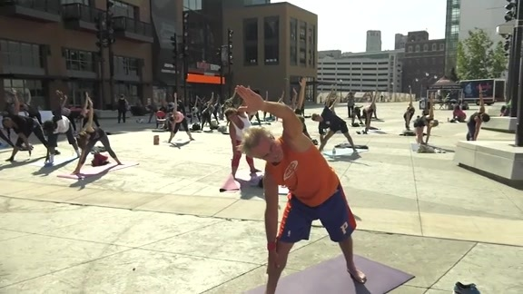 Pistons Fit, presented by Henry Ford Health System: Yoga in the Plaza