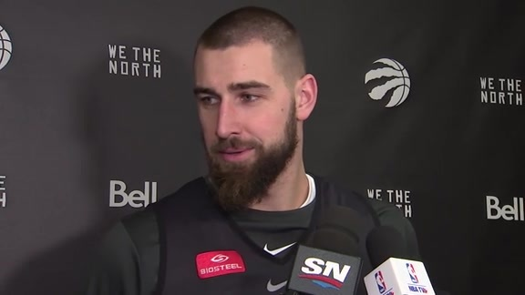 Raptors Shootaround: Jonas Valanciunas -January 17, 2018