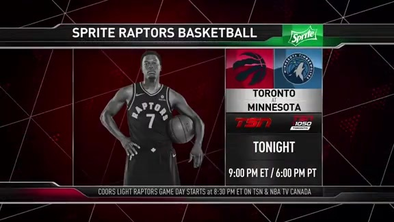Raptors Game Preview: Toronto at Minnesota  - January 20, 2018
