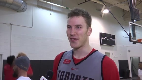 Raptors Practice: Jakob Poeltl - January 22, 2018