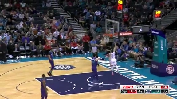 Game Highlights: Raptors at Hornets - February 11, 2018