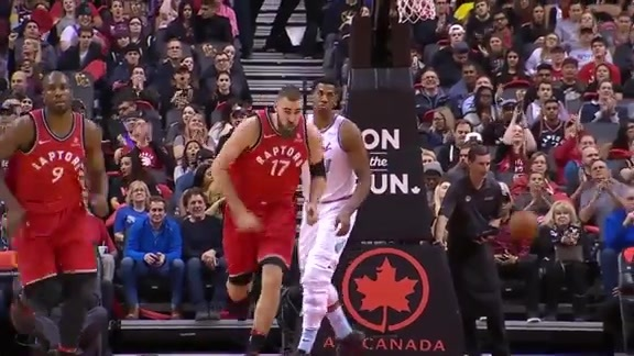 Raptors Highlights: Lowry to Valanciunas Alley-Oop - February 13, 2018
