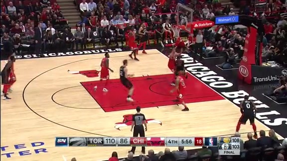 Game Highlights: Raptors at Bulls - February 14, 2018