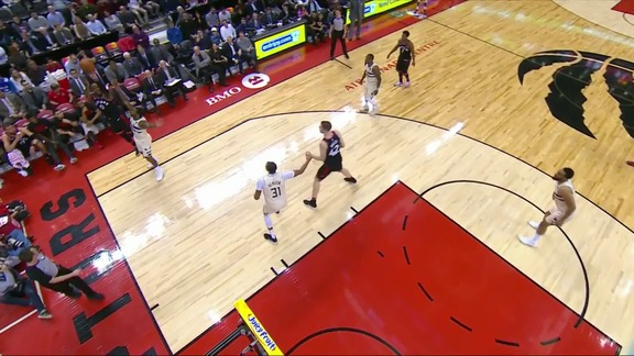 Raptors Highlights: Miles 4-Point Play - February 23, 2018