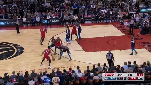 Game Highlights: Thunder at Raptors - March 18, 2018