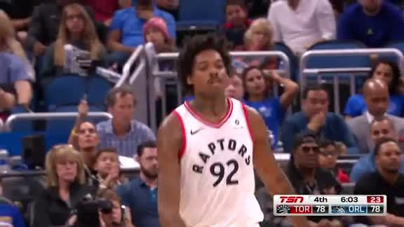 Raptors Highlights: Lowry to Nogueira Alley-Oop - March 20, 2018