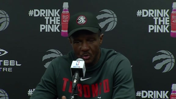 Raptors Practice: Dwane Casey - April 15, 2018