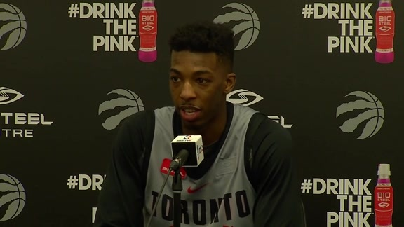 Raptors Practice: Delon Wright - April 16, 2018