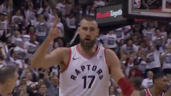 Raptors Highlights: Valanciunas Works Both Ends - April 17, 2018