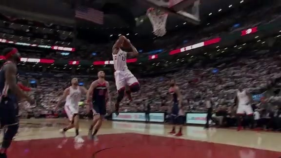 Raptors Highlights: DeRozan's Two-Handed Slam - April 17, 2018