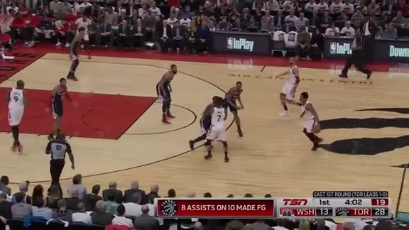 Game Highlights: Wizards at Raptors: Game 2 - April 17, 2018