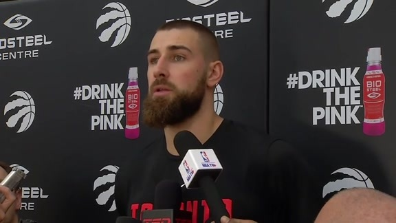 Raptors Practice: Jonas Valanciunas - April 19, 2018