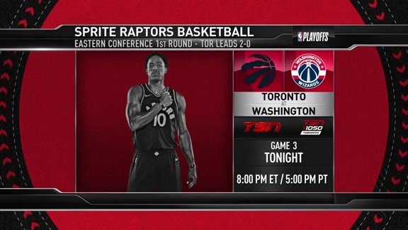 Raptors Game Preview: Toronto at Washington - April 20, 2018