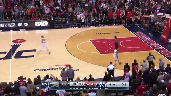 Game Highlights: Raptors at Wizards: Game 4 - April 22, 2018
