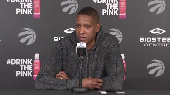 Raptors Practice: Masai Ujiri - April 24, 2018