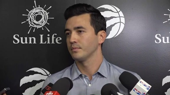 Raptors Practice: Bobby Webster - October 16, 2018