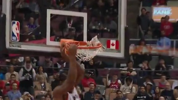 Raptors Highlights: Kawhi Leonard Dunk - October 19, 2018