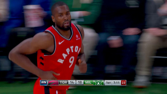 Raptors Highlights: Ibaka Goes Coast To Coast - January 5, 2019