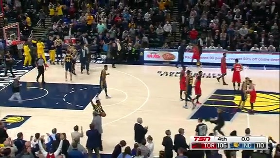 Game Highlights: Raptors at Pacers - January 23, 2019