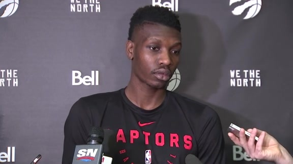 Raptors Shootaround: Chris Boucher - February 11, 2019