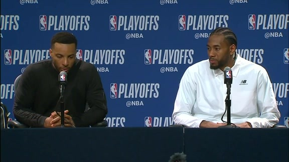 Raptors Post-Game: Kawhi Leonard and Norman Powell - April 21, 2019