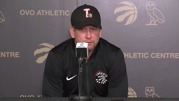 Media Availability: Nick Nurse - April 22, 2019