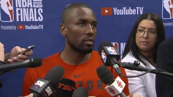 NBA Finals Media Day: Serge Ibaka - May 29, 2019