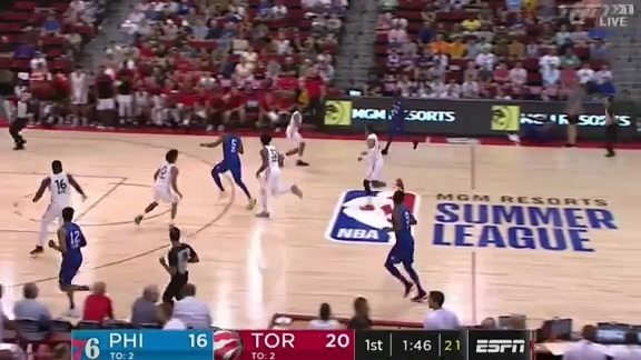 Summer League Highlights: Raptors vs 76ers - July 12, 2019