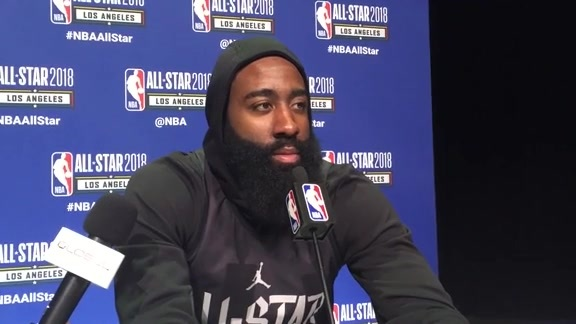 James Harden All-Star 2018 Media Day Press Conference