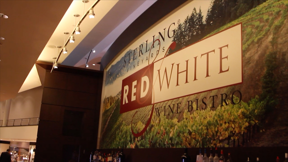 Touring Toyota Center - Sterling Vineyards Red & White Bistro
