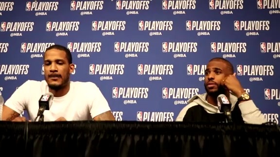 Postgame Interviews: Chris Paul & Trevor Ariza 4-18-18