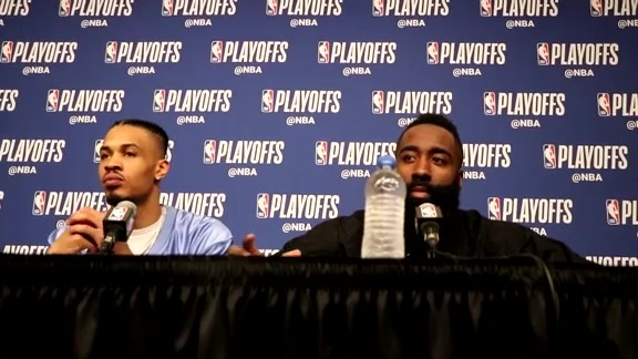 Postgame Interviews: James Harden & Gerald Green 4-18-18