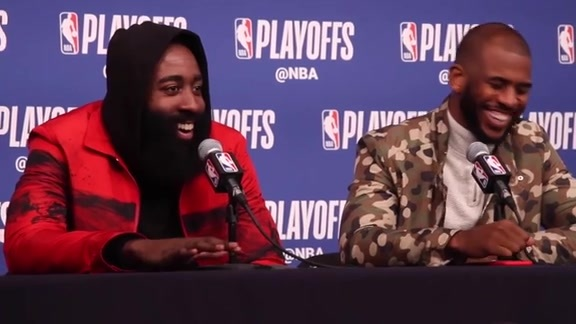 Postgame Interviews: James Harden & Chris Paul 04-23-18