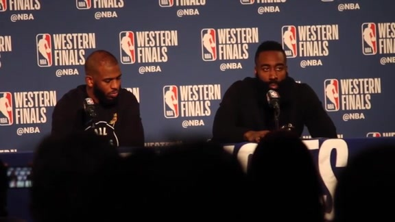 Postgame Interviews: Chris Paul & James Harden 5-22-18