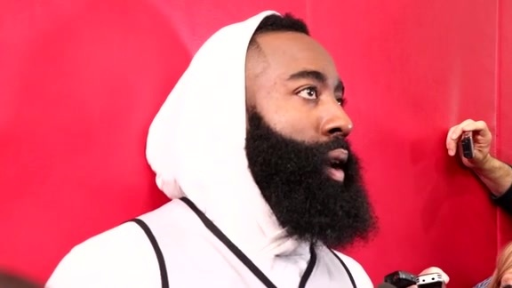 Practice Interviews: James Harden 5-25-18
