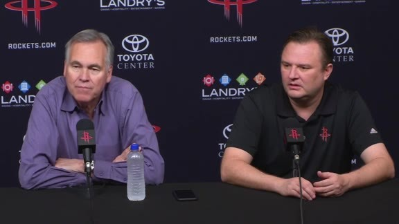 Interview: Coach D'Antoni & Rockets GM Daryl Morey 5-30-18