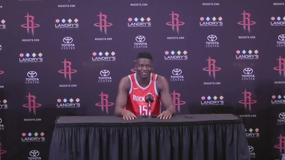 2018 ROCKETS MEDIA DAY: Clint Capela