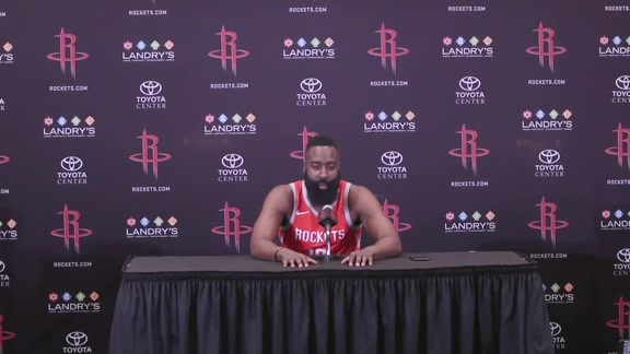 2018 ROCKETS MEDIA DAY: JAMES HARDEN