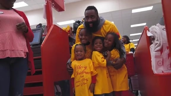 Harden Family Holiday Shopping Spree