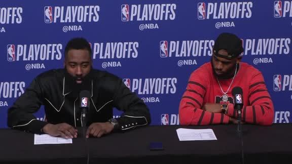 Postgame Interviews: Harden & Paul 4-14-19