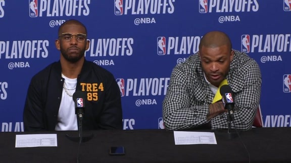 Postgame Interviews: CP3 & PJ Tucker 4-17-19