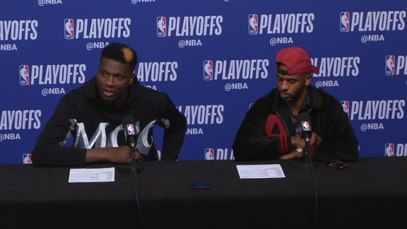 Postgame Interviews: Paul & Capela 4-24-19