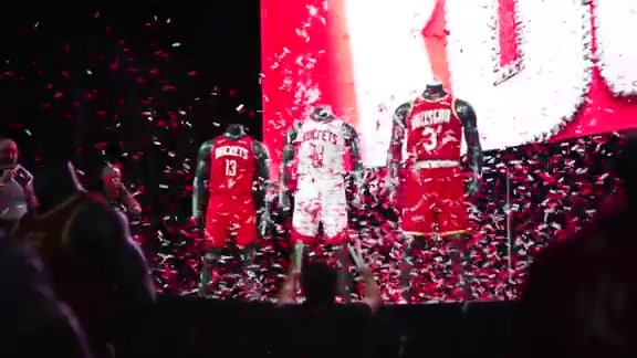 2019-20 Houston Rockets Uniform Reveal Party